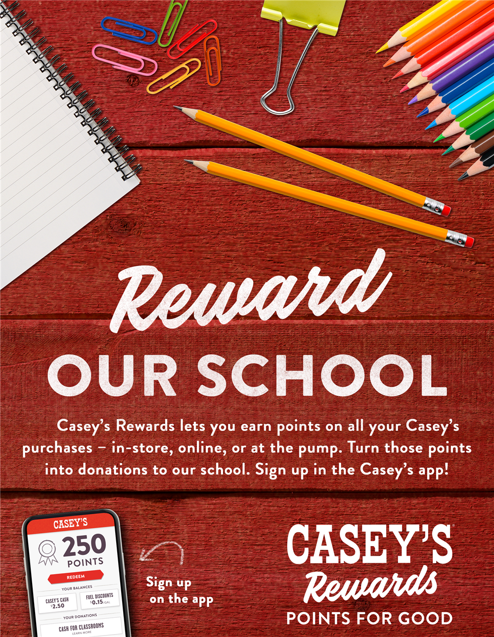 Casey's Rewards Cash for Classrooms Rewards Program